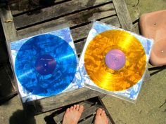 Crank it up with some old school vinyl. Old School, Gold, Blue, Furniture, Home Decor, Homemade Home Decor, Home Furnishings, Interior Design, Home Interiors