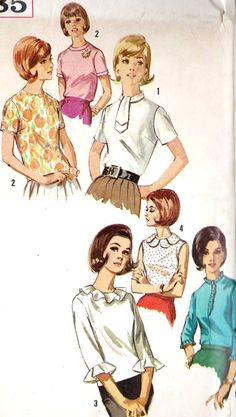 1960s Misses Blouse Mad Men Fashion