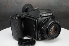 - Pentax 645 Camera w Pentax - A 75mm f2.8 Lens Description: For sale is a used Pentax 645 outfit. It ... #pentax #lens #camera