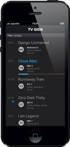 TV GIDS for iPhone and iPad by Martin Boerma, via Behance