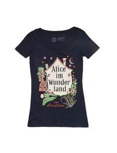 Alice in Wonderland (Alice im Wunderland) book tee