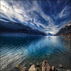 Blue mountains, Canton of Berne, Switzerland