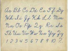 Cursive writing ~Old School