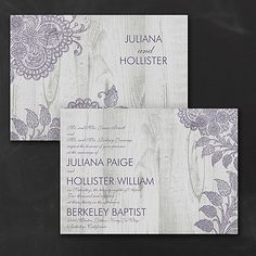 Inspiring Lace Wedding Invitation
