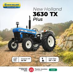 No. Of Cylinder 3 Engine HP 55 HP PTO HP 46.8 HP Gear Box 8+2 / 12+3 CR* / 12+3 UG* Tractor Price, New Tractor, New Holland Tractor, New Holland Agriculture, Tractors, Engineering, Farmers, Indian, Popular