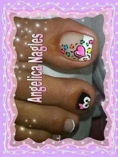 Corazon Cute Pedicure Designs, Toenail Art Designs, Toe Nail Designs, Nail Polish Designs, Acrylic Nail Art, Toe Nail Art, Cute Pedicures, Les Nails, Pedicure Nail Art