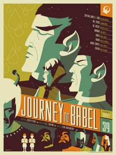 """Journey to Babel"" Star Trek illustration by Tom Whalen"