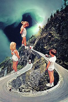 elements superposats, exageradament + grans (ja es veu que són afegits) --- Obstruction by Eugenia Loli