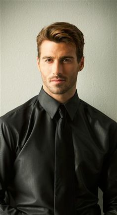 TuxedosOnline.Com has this New Mens Black Dress Shirt with a beautiful tone-on-tone stripe. No other fabric can match the comfort & elegance of Luxe Microfiber for only $29.99