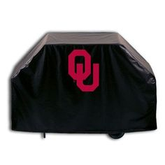 """Holland Bar Stool NCAA Grill Cover Size: 36"""" H x 72"""" W x 21"""" D, NCAA Team: Oklahoma"""