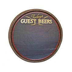 Guest beers barrel end - blackboard from Andy Thornton