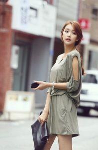 J74610 Korean Fashion Popular Gentlewomen Off Shoulder Jumpsuit