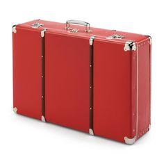 Pappkoffer mit Holzleisten rot B 70 x H 47 x T 20 cm, Manufactum