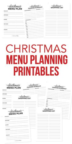Plan your Christmas dinner menu with these delicious holiday appetizers, entrées, side dishes and desserts. Includes a FREE printable Christmas menu template, cooking schedule and shopping list… More