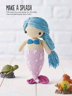 PATRONES GRATIS DE CROCHET: Patrón gratis de un amigurumi Sirena ( en inglés) a crochet