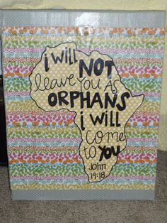Bible Verse Canvas John 1418 by smattox Bible Verse Canvas, How He Loves Us, Sidewalk Chalk, Bible Crafts, Crafty Craft, Crafting, Bible Verses Quotes, God Is Good, My New Room