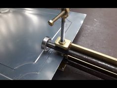 Dear you all, Today I would like to introduce how to make Sheet Metal Pressing Tool. It is very easy to make and use to use when press sheet metal. Sheet Metal Tools, Metal Bending Tools, Sheet Metal Work, Metal Working Tools, Homemade Tools, Diy Tools, Metal Fabrication Tools, Metal Shaping, Metal Workshop