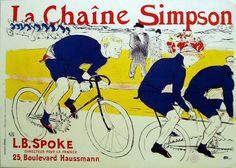 iCanvas Simpson La Chain Bicycle Advertising Vintage Poster Gallery Wrapped Canvas Art Print by Henri de Toulouse-Lautrec Henri De Toulouse Lautrec, Poster Art, Kunst Poster, Art Posters, Bike Poster, Art Nouveau, Art Deco, Atelier Theme, Posters Vintage