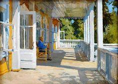 Alexsei Gritsei, Sulla veranda a Senezh, 1964