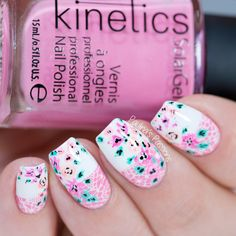 Lace and Floral - Nail Art Tutorial (with video)