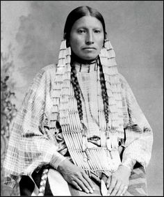 Mrs Thunder Bear, the famous interpreter among the Sioux 1891.