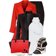 """""""Red, Black & White"""" by talvadh on Polyvore"""