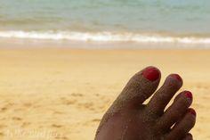 Beautiful beach, long toes.