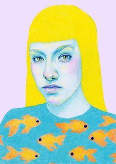Something fishy Art Print by Natalie Foss | Society6
