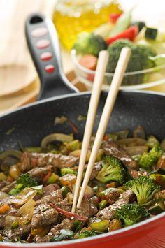 Wok med lynstegt okse og broccoli SlankeDoktor.dk
