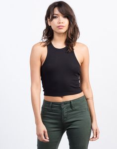 Let's keep it simple with this basic Ribbed Crop Tank. This tank looks amazing paired with distressed jeans or your favorite pair of high waisted denim shorts.