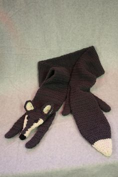 Game of Thrones Inspired Crocheted Custom Stark Dire Wolf Scarf Made to Order. $65.00, via Etsy.