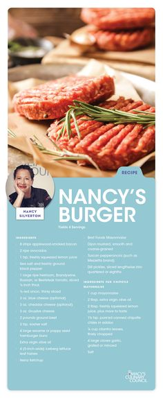 Spice up your patties with Macy's Culinary Council Nancy Silverton's Nancy's Burger recipe for your next BBQ.