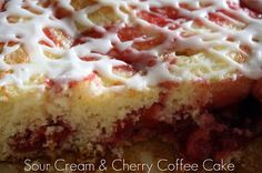Sour Cream Cherry Coffee Cake by Mommy's Kitchen