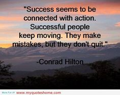Don't stop or slow down just because you made a mistake. Keep going!!!