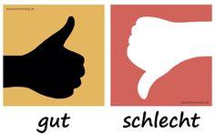 gut - schlecht - Adjektive - Deutsch Adjektive - deutsche Adjektive - Adjektive Deutsch - Adjektive Übungen - Adjektive Bilder