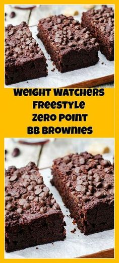 Weight Watchers Freestyle Zero Point BB Brownies | weight watchers cooking
