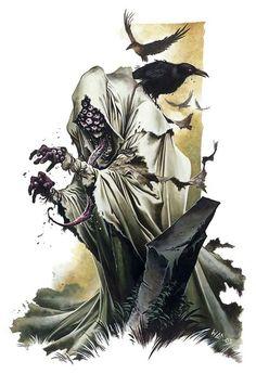 Vitreous Drinker-undead AD&D monster hungry for your eyeballs. Fantasy Monster, Monster Art, Creature Feature, Creature Design, Fantasy Character Design, Character Art, Cthulhu, Evvi Art, Wayne Reynolds