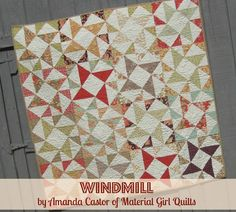 """Moda Bake Shop: Windmill Quilt uses 10"""" layer cakes"""