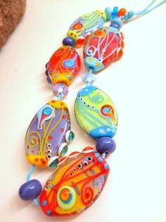 jasmin french lampwork beads  sirens  sra free shipped