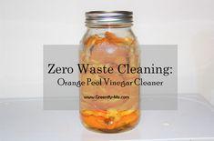 Zero Waste Cleaning: Orange Peel Vinegar Cleaner - Greenify Me Homemade Cleaning Supplies, Household Cleaning Tips, Cleaning Hacks, Natural Cleaning Solutions, Natural Cleaning Products, Orange Peel Vinegar, Vinegar Cleaner, Plastic Spray Bottle, Empty Glass Bottles