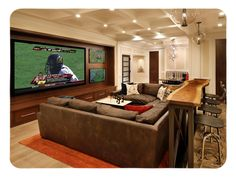Basement Decor. Discover a selection of modern finished underground room redecorating inspirations that will help make a room that you will delight in hanging out in, including cellar and basement conversions with home theatres, fitness centers and beautiful cellar pools. 39960609 Basement Decorating Ideas And Projects