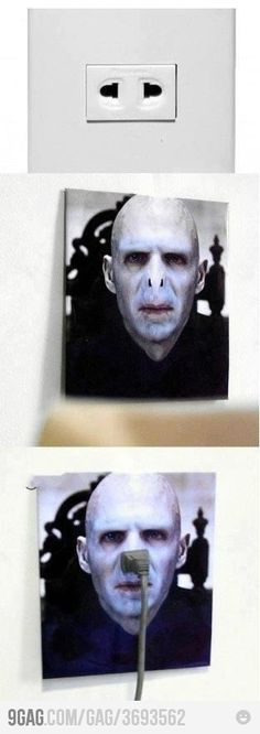 Now little Voldy is hand sanitizer, and a power plug! :)