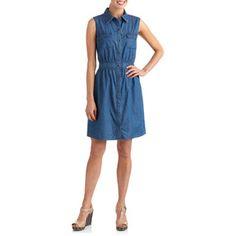 Stitch Women's Sleeveless Denim Dress