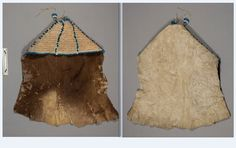 Sioux buffalo hide baby carrier ca 1850, from G K Warren.  NMNH