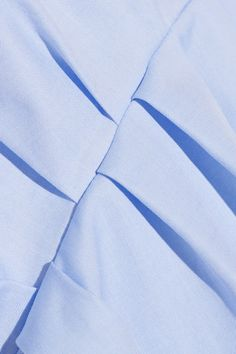 Light-blue cotton-poplin Partially concealed button fastenings through front 100% cotton; internal trim: 100% silk Dry clean