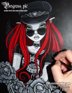 Fairy & Fantasy Artist Myka Jelina. Official Online Gallery. Fantasy Art, Gothic Faery Art, Tribal & Steam-Punk Fairies. Faerie Tattoos. Acrylic Paintings, Art Prints. - Home