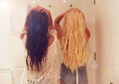 #brunette #blonde #wavy #beachy