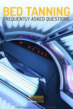 Here are some FAQs on bed tanning! Learn all you need to know before you step into that tanning bed on your tanning session. Tanning Bed Tips, Outdoor Tanning, Lotion, Solarium, How To Tan Faster, Tanning Cream, Budget, Spa Massage, Skin Care Tips