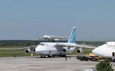 """""""Мрія"""" сідає в аеропорт ГП """"Антонов"""" 29 червня 2012 р."""