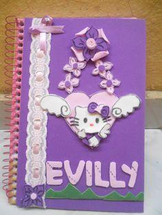 Caderno decorado hehe